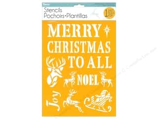 craft & hobbies: Darice Craft Stencil 8 1/2 x 11 in. Christmas Classic