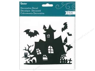 scrapbooking & paper crafts: Darice Decal Haunted House Black/White
