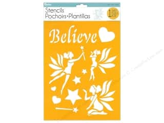 craft & hobbies: Darice Craft Stencil 8 1/2 x 11 in. Believe & Fairy