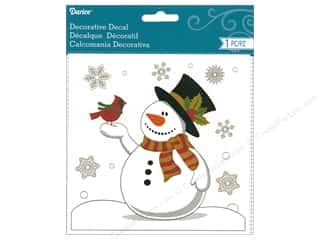 Sale: Darice Decal Snowman Scene