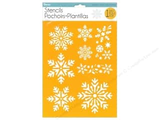 craft & hobbies: Darice Craft Stencil 8 1/2 x 11 in. Assorted Snowflakes