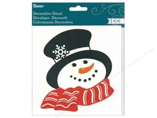 Clearance: Darice Decal Snowman Head & Scarf