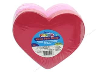 craft & hobbies: Darice Foamies Valentine Base Hearts Value Pack 36 pc