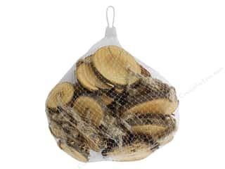 "Sierra Pacific Crafts Wood Ornament Disk 2.5"" Bag Natural"