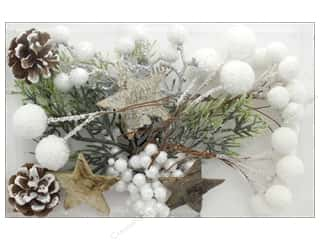 Sierra Pacific Crafts Decor Filler With Berries, Stars & Pinecones White