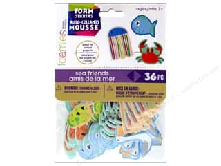 Darice Foamies Sticker Sea Friends 36 pc