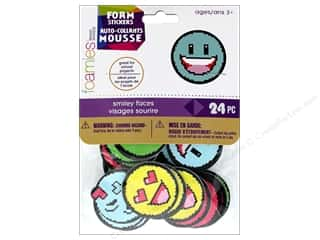 stickers: Darice Foamies Sticker Smiley Faces 24 pc