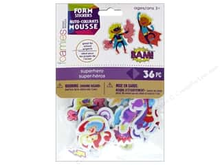 Darice Foamies Sticker Superhero 36 pc