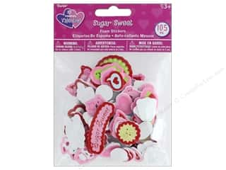 Darice Foamies Valentine Sticker Sugar Sweet 105 pc