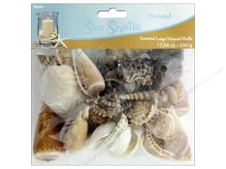 decorative floral: Darice Seashells Large Assorted 17.64 oz