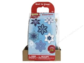 projects & kits: Darice Felties Felt Activity Kit Layer Snowflakes