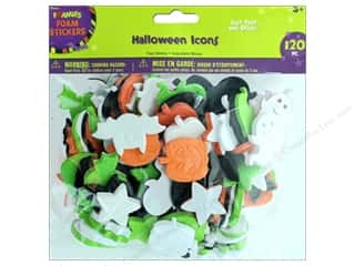 stickers: Darice Foamies Sticker Halloween Icon 120 pc