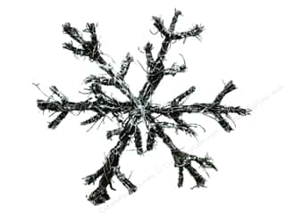 craft & hobbies: Darice Decor Christmas Vine Snowflake Frost Glitter 8 inch