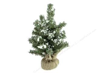 Darice Decor Christmas Tree 12 inch Glitter Snow