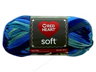 discontinued red heart yarn: Red Heart Soft Yarn 204 yd. #9983 Seaglass