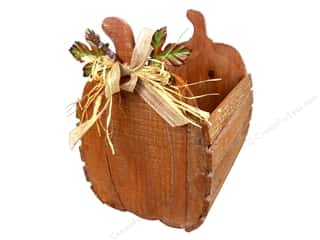 burlap: Darice Wooden Pumpkin Crate - Medium