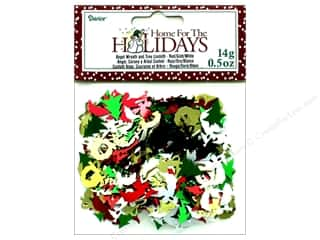Darice Confetti Pack Holiday Angel/Wreath/Tree .5oz