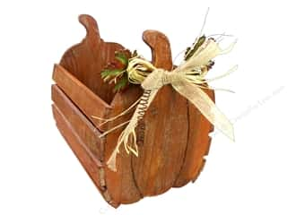 burlap: Darice Wooden Pumpkin Crate - Small