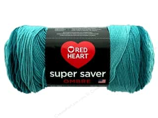 yarn & needlework: Red Heart Super Saver Ombre Yarn 482 yd. #3985 Deep Teal