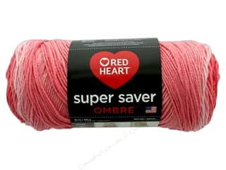 yarn & needlework: Red Heart Super Saver Ombre Yarn 482 yd. #3967 Sea Coral