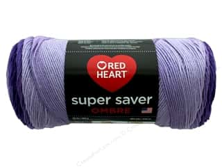 Red Heart Super Saver Ombre Yarn 482 yd. #3969 Violet