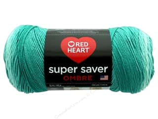 Red Heart Super Saver Ombre Yarn 482 yd. #3970 Spearmint