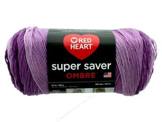 yarn: Red Heart Super Saver Ombre Yarn 482 yd. #3968 Purple