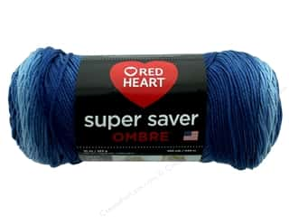 yarn & needlework: Red Heart Super Saver Ombre Yarn 482 yd. #3962 True Blue