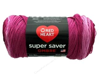 Red Heart Super Saver Ombre Yarn 482 yd. #3965 Anemone