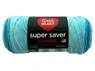 Red Heart Super Saver Ombre Yarn 482 yd. #3961 Scuba