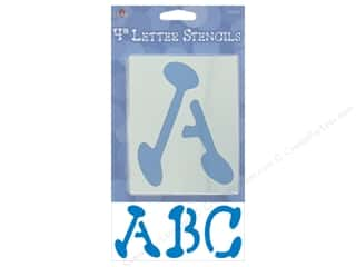 Plaid Alphabet Stencils Upper Case 4 in. Liquid Ink