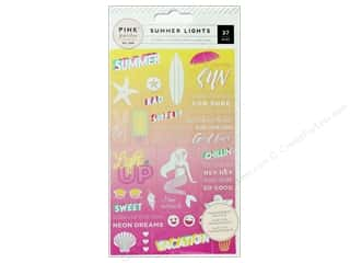 scrapbooking & paper crafts: Pink Paislee Collection Summer Lights Sticker Word Jumble