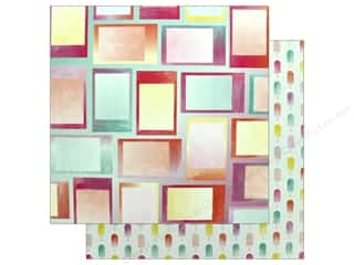 "Pink Paislee Collection Summer Lights Paper 12""x 12"" Paper 7 (25 pieces)"