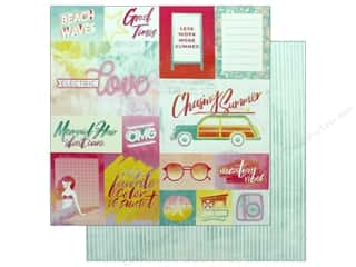 """Clearance: Pink Paislee Collection Summer Lights Paper 12""""x 12"""" Paper 1 (25 pieces)"""