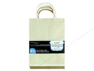 "Coredinations Paper Bags 8""x 10.25""x 4.25"" Glitter 4pc"