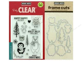 dies: Hero Arts Stamp & Cuts Holiday Animals