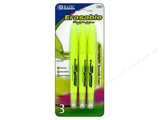 Disappearing Ink Pen: Bazic Basics Erasable Highlighters 3 pc.