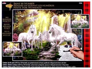 """Plaid Paint By Number 16""""x 20"""" Waterfall Glade Unicorn"""