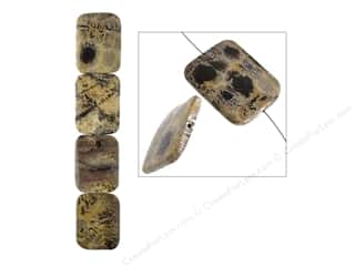 John Bead Semi Precious Bead 8 in. Artistic Stone 30 mm x 40 mm Rectangle