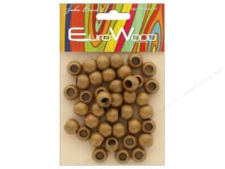 beading & jewelry making supplies: John Bead Wood Bead Round Large Hole 12mm x 9.8mm Coffee