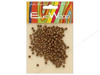 beading & jewelry making supplies: John Bead Wood Bead Round 4mm Coffee