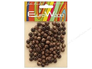 craft & hobbies: John Bead Wood Bead Round 8mm Dark Brown