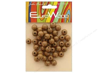 beading & jewelry making supplies: John Bead Wood Bead Round 10mm Coffee