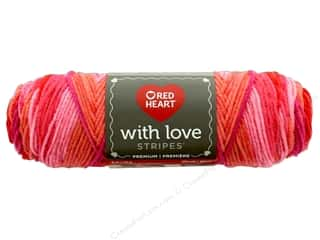 yarn: Red Heart With Love Yarn 223 yd. #1976 Passion Stripe