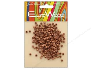 John Bead Wood Bead Round 4mm Light Brown