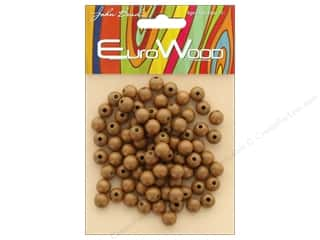 John Bead Wood Bead Round 8mm Coffee