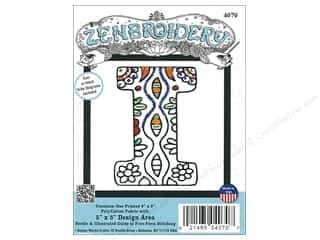 "yarn & needlework: Design Works Zenbroidery Fabric 5""x 5"" Letter I"