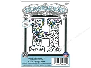 "yarn & needlework: Design Works Zenbroidery Fabric 5""x 5"" Letter H"