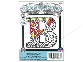 "yarn & needlework: Design Works Zenbroidery Fabric 5""x 5"" Letter B"
