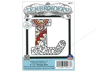 "yarn & needlework: Design Works Zenbroidery Fabric 5""x 5"" Letter L"